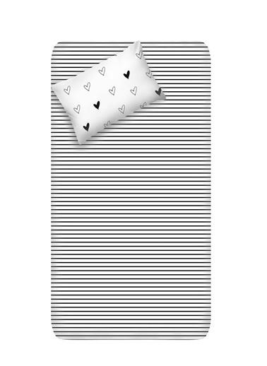 EnLora Home Enlora %100 Doğal Pamuk Çarşaf+Yastık Seti Tek Kişilik Eveline  Beyaz